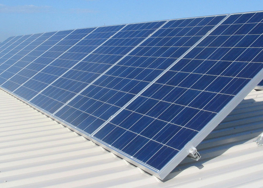 Blue Polycrystalline Silicon Solar Panel , Solar Pv Modules For Industrial